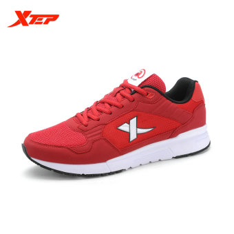 XTEP Brand Running Shoes for Men Sports Shoes Mesh Men's Sneakers Trainer Outdoor Athletic Shoes zapatos de hombre (Red) - intl