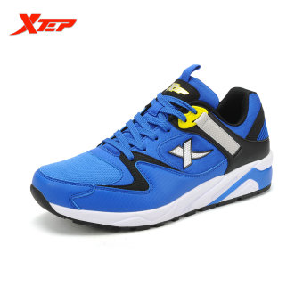 XTEP Brand Shoes Running Shoes for Men 2016 Summer Style Man Sneakers Sports Shoes Breathable Athletic Men Trainer (Blue/Black)