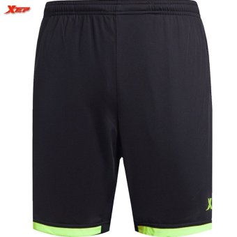 XTEP Running Shorts Men Sport Workout Training Soccer Shorts(Black/Green) Price Philippines