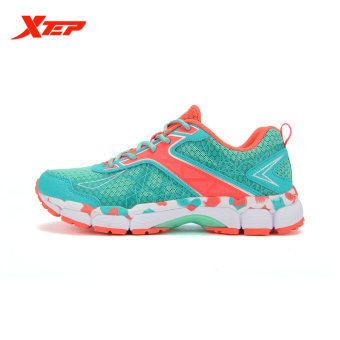 XTEP Summer Running Shoes for Women Brand 2016 Sports Shoes Women's Shoes Sneakers Big Size Ladies Breathable Shoes (Red/Green) - 3