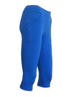 Yabyab Store Capri Leggings with Pocket Set of 2 (Blue/Gray)