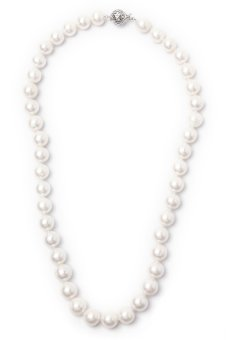 Yassy Pearls FWP WHITE 10 Necklace (White)