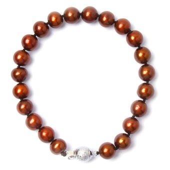 Yassy Pearls FWPBROWN8 Bracelet (Brown)