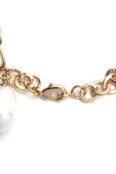 Yassy Pearls FWPCHAIN11 Bracelet (Yellow/White) - picture 2