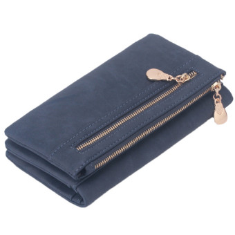 Yingwei High Quality Ladies PU Leather Wallet Portable Purse Blue - intl