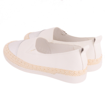 Yingwei Hot Sales Fashion Flat Shoes For Women Leather LoafersWhite - Intl