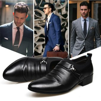 YingWei Men's Formal Business Leather Shoes Casual Formal Shoes(Black) - intl - 2