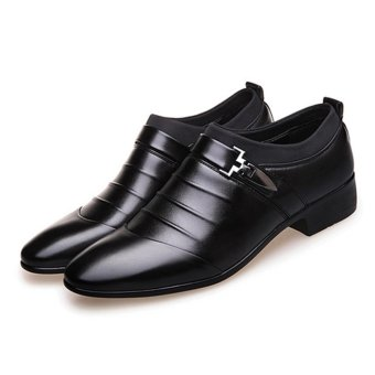 YingWei Men's Formal Business Leather Shoes Casual Formal Shoes(Black) - intl - 4