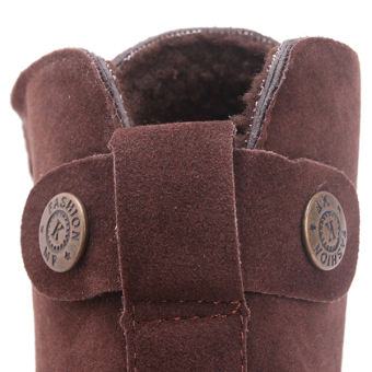 Yingwei Women Winter Cotton Flat Short Boots Brown - 5