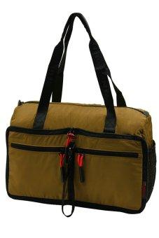YinJue 1011 Foldable Unisex Weekender Bag (Brown)