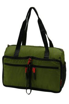 YINJUE 1011 Foldable Unisex Weekender Bag (Fatigue Green)