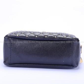 Yogodins Women's Black Crown Brooch Design Chain Strap MessengerBag - 5