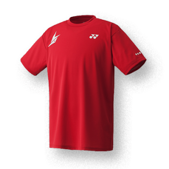 YONEX men's short sleeved Lin Dan quick-drying sportswear shuttlecock clothes (16004LD red Lin Dan Models)
