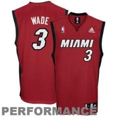 Youth Miami Heat Dwyane Wade Red Alternate Jersey Good Price Summer Hot - intl