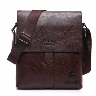 YSLMY Jeep Buluo Genuine Leather Bag Men Crossbody Bag Messenger Bag Sling Bag Leather Bag (Brown) - intl