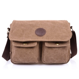 YSLMY men's travel bag canvas men messenger bag +Coffee - intl Price Philippines