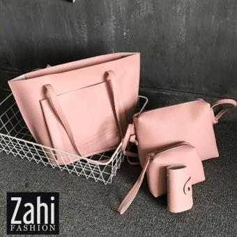 ZAHI FASHION Eun Bin 4 in 1 Korean Shoulder Bag (Peach)