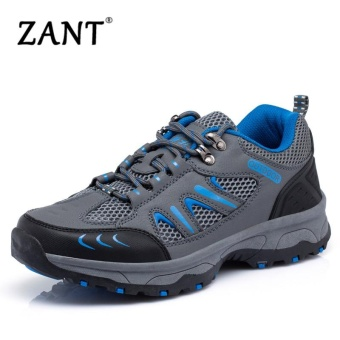 ZANT Men Waterproof Hiking Climbing Shoes Suede Boots ThermalWinter Outdoor Mountain Sneakers High Sports Shoes-Grey - intl