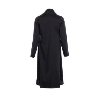 Zanzea Women Large Lapel Irregular XXL Cardigan (Black) - picture 2