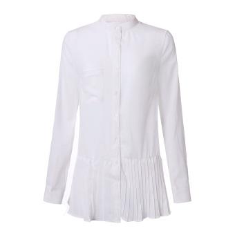 ZANZEA Women Loose Chiffon Long Sleeve Tops Casual Shirt Dress - picture 2