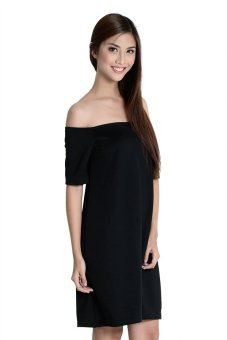 Zara Off Shoulder Dress By Fashion Haus Online (Black)