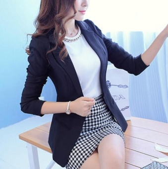ZH A woman's coat, a small suit, a small candy suit black - 2