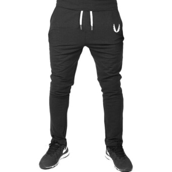 ZH Men jogging pants, exercise, running, cotton pants black