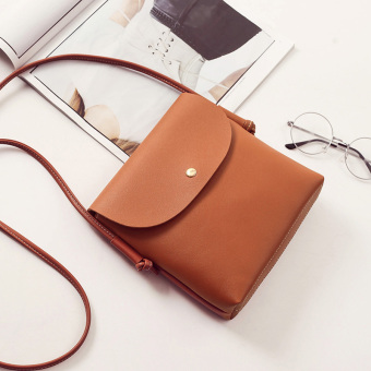 Zhuo Erhan version shoulder small bag New style women's bag (Light Brown)