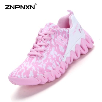 ZNPNXN Women'S Shoes Net Cloth Air Cushion Running Shoes Bradyseism Stylish And Comfortable Gym Shoes Women Shoes (Pink) - intl
