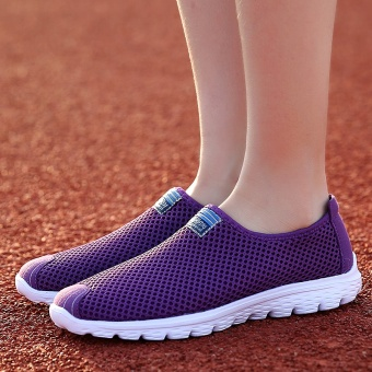 ZNPNXN Women'S Shoes Slip-On Net Cloth Shoes Slip On Shoes For Women Casual Breathable Comfort Shoes Womens Spring ShoesZapatillas Mujer(Purple) - intl - 4