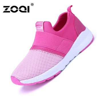 ZOQI Boy's And Girl's Fashion Sneaker Breathable Sport Shoes(Rose)- intl