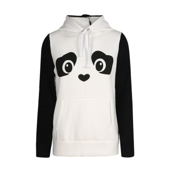 ZOQI Long Sleeve Panda Pattern Casual Clothing Hoodies & Sweatshirts(White) - intl