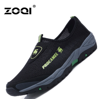 ZOQI Man's Fashion Sneakers Net Slip-ons Walking Shoes(Black) - intl
