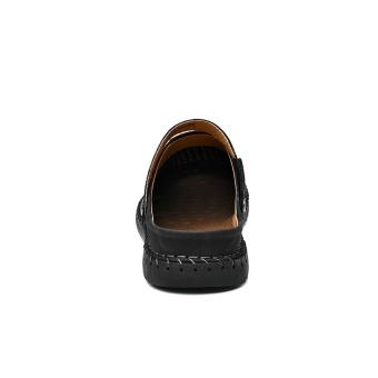 ZOQI Men's Fashion Casual Beach Shoes Summer Sandals Slipper(Black)- intl - 3