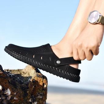 ZOQI Men's Fashion Casual Beach Shoes Summer Sandals Slipper(Black)- intl - 5