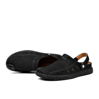 ZOQI Men's Fashion Casual Beach Shoes Summer Sandals Slipper(Black)- intl - 2