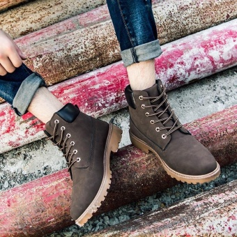 ZORO New 2017 Leather Ankle Boots Mens Fashion Shoes Spring Booties Waterproof Boots (Brown) - intl
