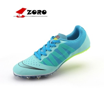 ZORO Track Sports Running Shoes Spike Spikes Athletics Training Shoes Football Shoes Blue - intl