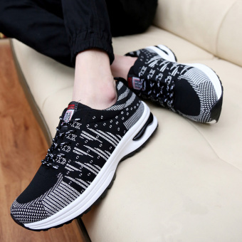 ZUNCLE Men's Casual Sports Breathable Shoes (Black) - picture 2