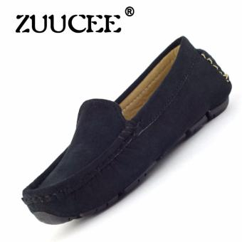 ZUUCEE 2016 Boy's And Girl's Fashion Sewing Shoes Flat Shoes(Black)
