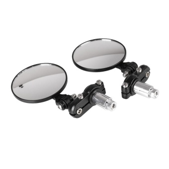 1 Pair Moto Motorcycle Motorbike Rearview Side End Rear Handlebar Mirrors - intl