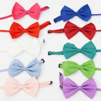 10 PCS Cute Pet Bow Tie for Pets with About 25-40cm NeckCircumference, Random Color Delivery - intl