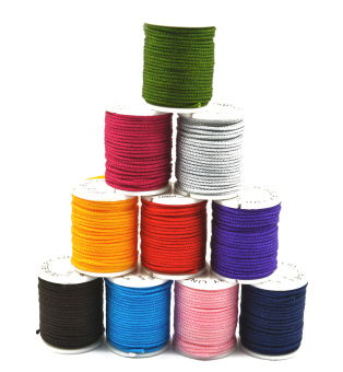 10 Rolls Chinese Knotting Cord Nylon Shamballa Macrame Thread 1mm