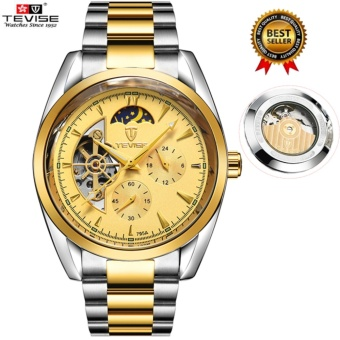[100% Genuine] 2017 NEW Popular TEVISE Men Business Watches Top Brand Luxury Famous Mechanical Watch Mens Clock Male Wrist Watch For Men Relogio Masculino 795a - intl