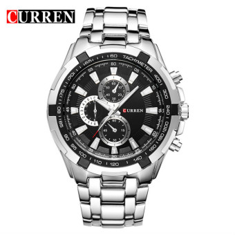 [100% Genuine]CURREN 8023 Mens Watches Top Brand Luxury Men Military Wrist Watches Full Steel Men Sports Watch Waterproof - intl