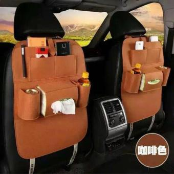 100% Imported Back Seat Car Seat Organiser  -Set of 2 (Brown)- 2 pcs Price Philippines