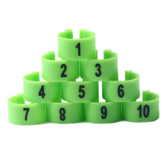 100Pcs 10mm 1-100 Numbered Poultry Leg Bands Bird Foot Ring PigeonPet Product-Green Price Philippines