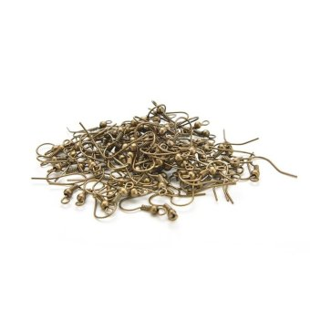 100pcs DIY Earring Hooks Findings Clasps Hooks - intl