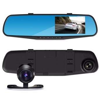 1080P HD Dual lens Car Rear View Backup Camera Support Car Recorder and Reverse Parking - intl