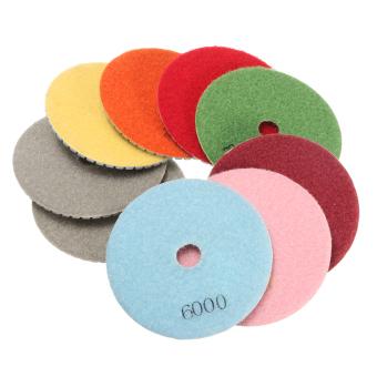 10PCS 4'' Inch Diamond Wet/Dry Polishing Pads For Granite Marble Concrete Stone - intl - 4